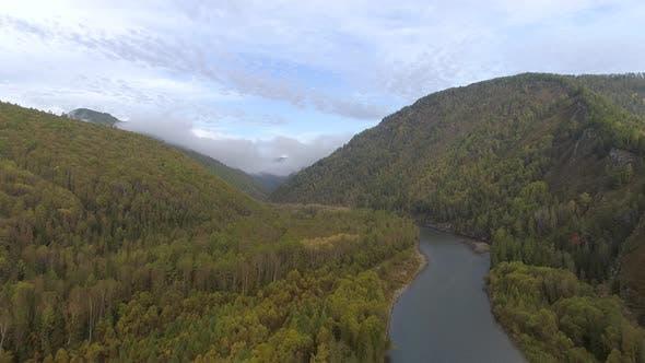 Thumbnail for Flight over River in Khakassia