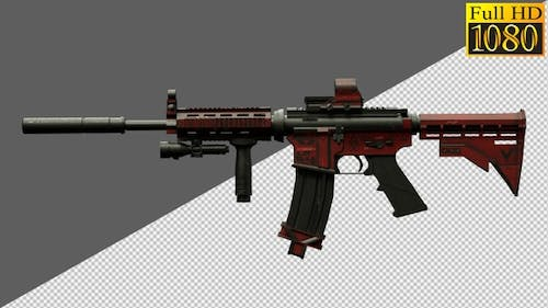 Rifle, Weapons, Guns On Alpha Channel Loops V2