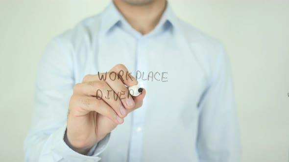 Workplace Diversity, Man Writing on Screen