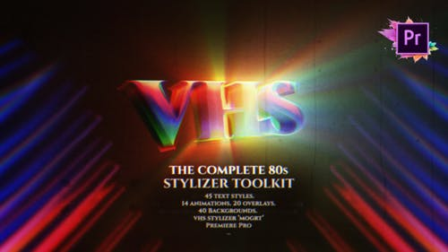 The Complete 80's Title Toolkit | Text Maker For Premiere Pro MOGRT