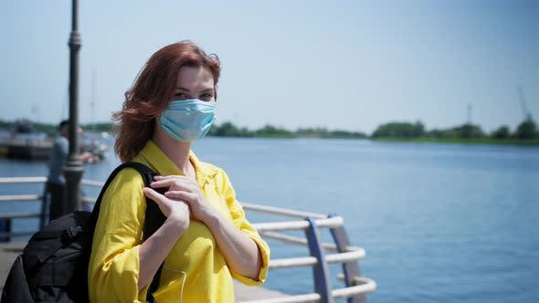 Thumbnail for Health Care, Girl Wearing Medical Mask To Protect Against Virus and Infection During Coronavirus