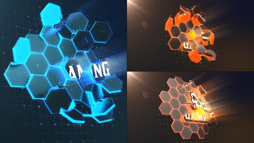 Hi-Tech Hexagons   Logo Reveal