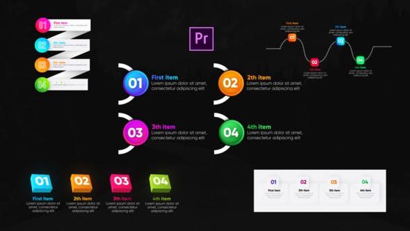 Thumbnail for Listes infographiques à la mode - Premiere Pro