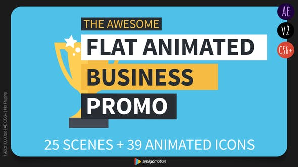 Thumbnail for Flat Animated Business Promo
