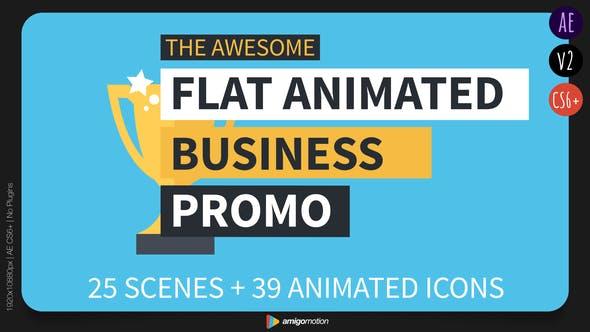 Thumbnail for Promo d'affaires animées à plat