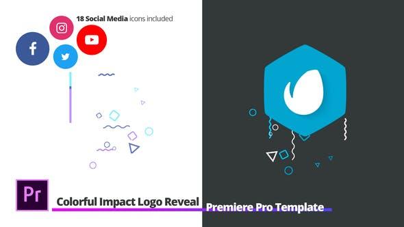 Thumbnail for Révélation du Logo Impact coloré | Pour Premiere Pro