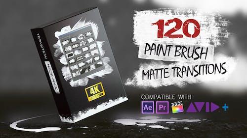 120 Paint Brush Matte Transitions - 4K Pack