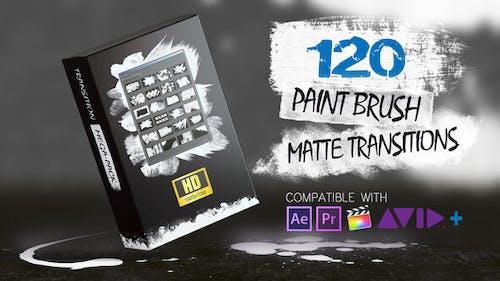 120 Paint Brush Matte Transitions - HD Pack