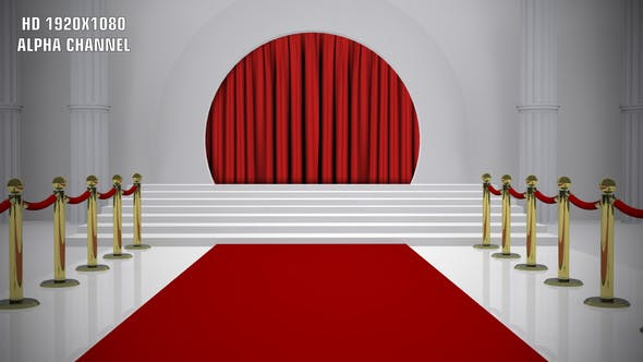 Red Carpet - Curtain Open