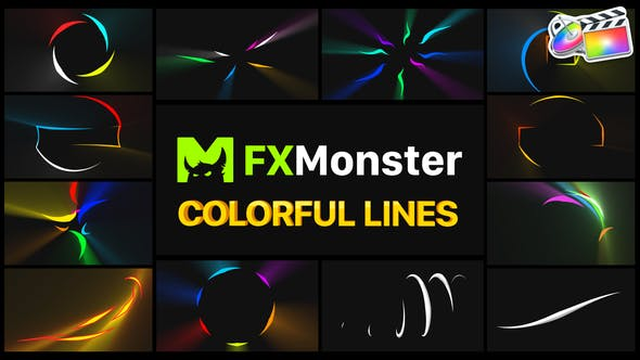Thumbnail for Colorful Flying Lines | FCPX