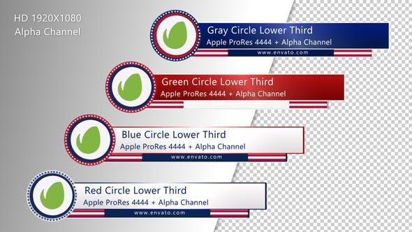 Circle Lower Third - USA Version