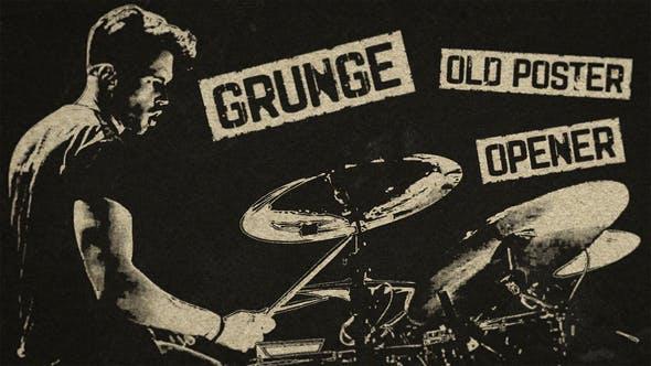 Grunge Old Poster Opener