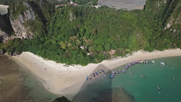 Thumbnail for Pranang Beach Between Rocks, Krabi, Thailand