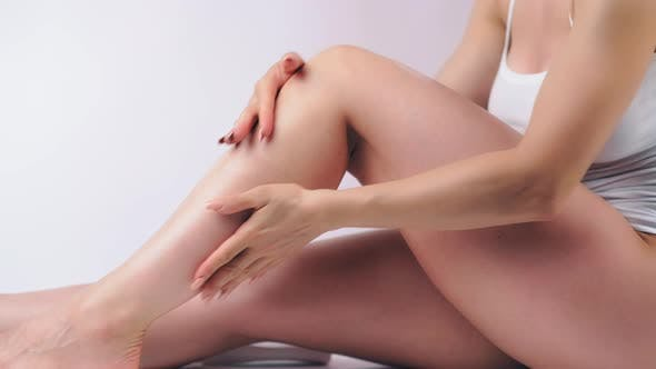 Thumbnail for Woman with Perfect Body Applying Cream