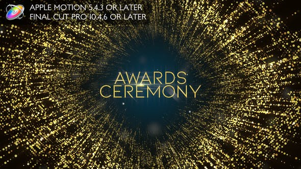 Thumbnail for Awards Ceremony Opener - Apple Motion