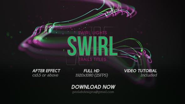 Swirl Lights Trail Titles  l  Particles Line Titles  l  Colorful Trails Titles  l  Flow Lines Titles