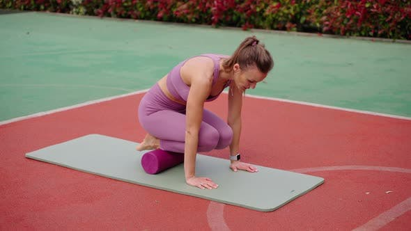 Outdoor Workout with Fitness Roll