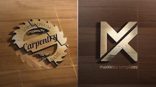 Wood 3D Logo Reveal