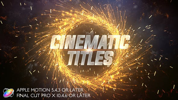 Thumbnail for Cinematic Trailer Titles - Apple Motion