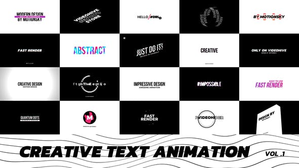 Thumbnail for Creative Text Animation