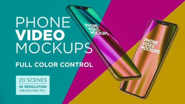 Thumbnail for Phone Video Mockups V1