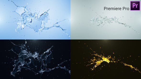 Thumbnail for Water Splash Logo Reveal - Premiere Pro