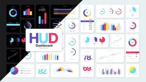 Infographies de tableau de bord HUD