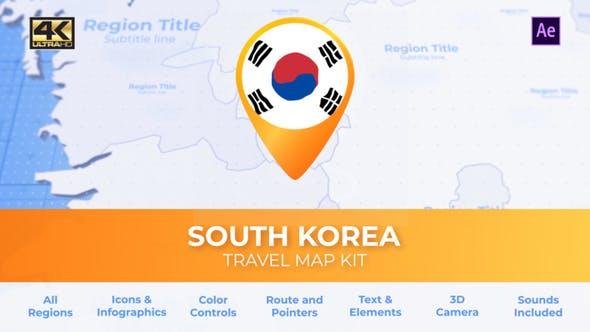 Thumbnail for South Korea Map - Republic of Korea ROK Travel Map