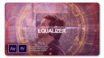 Equalizer Music Reactor Slideshow