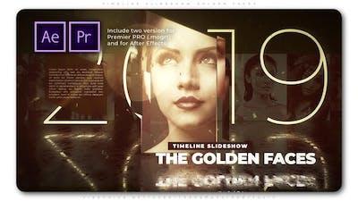 Timeline Slideshow Golden Faces