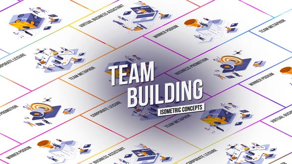 Team Building - Isometric Concept