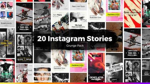 20 histoires Grunge Instagram