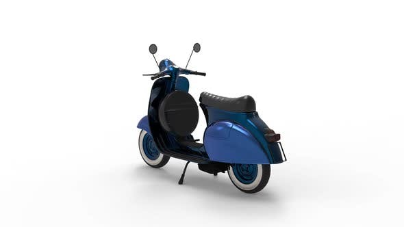 Städtische Motorroller