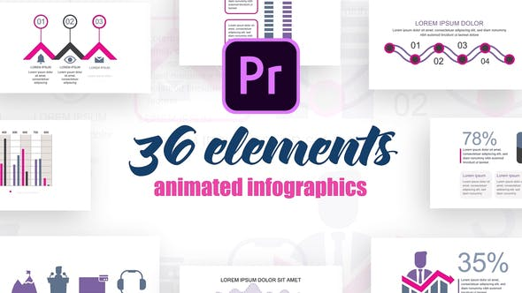 Thumbnail for Statistic Infographics Vol.37 for Premiere Pro