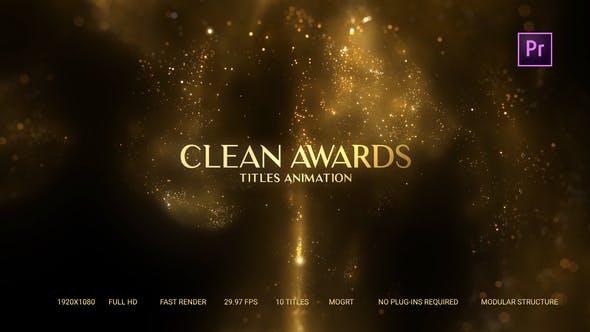 Thumbnail for Golden Particles Award Titles – Mogrt