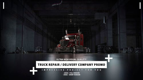 Delivery Company and Truck Repair Promo