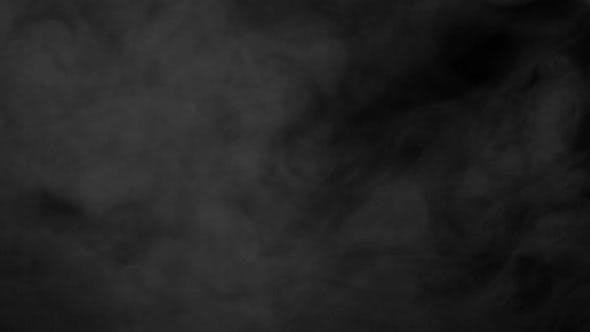 Thumbnail for Smog Rising On Black Background