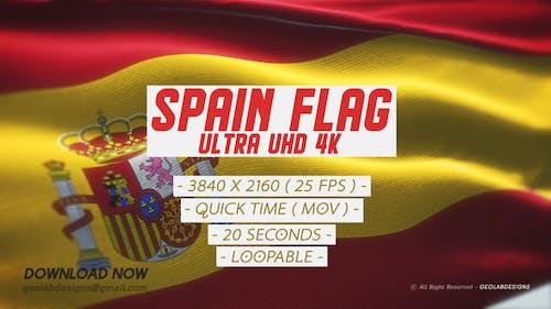 Spain Flag - Ultra UHD 4K Loopable