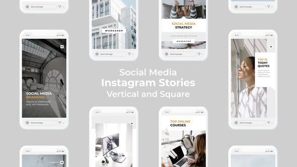 Historias de Instagram en redes sociales | Vertical y Cuadrado