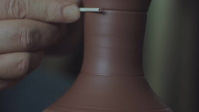 Shaping Clay Pitcher