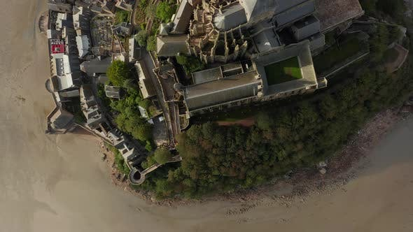 Thumbnail for Overhead Birds View of Mont Saint Michel Castle in France