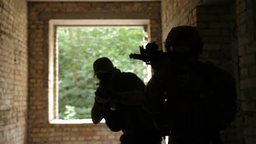 Trupp der Rangers während der Anti-Terror-Operation