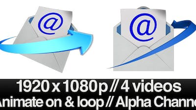 Email Envelope Opening Loop - 2 Styles With Alpha