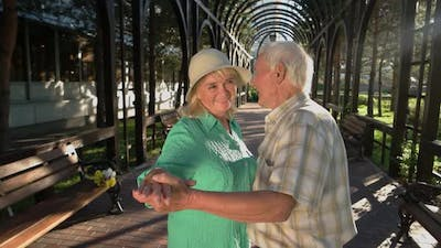 Old Couple Is Dancing