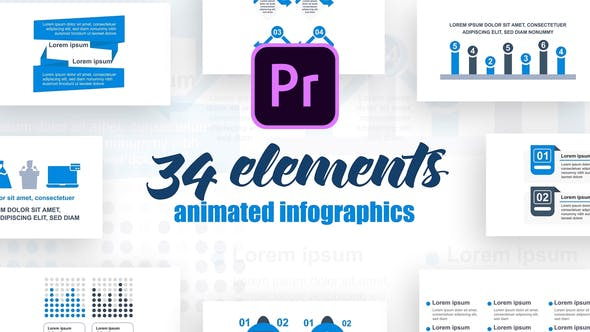 Corporate Infographics Vol.30 for Premiere Pro