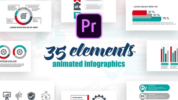 Thumbnail for Business Infographics Vol.36 for Premiere Pro