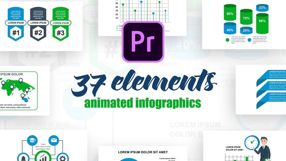 Thumbnail for Business Infographics Vol.39 for Premiere Pro