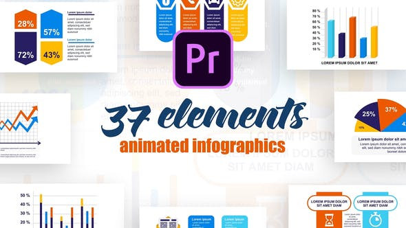Thumbnail for Infographies de démarrage Vol.40 pour Premiere Pro