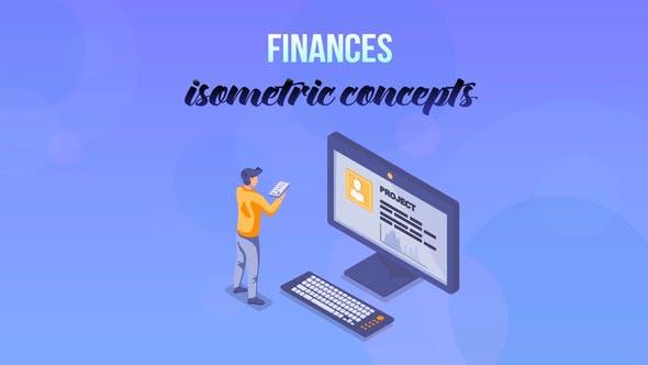 Finances - Isometric Concept