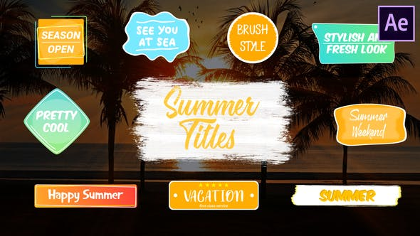 Thumbnail for Colorful Summer Titles | After Effects